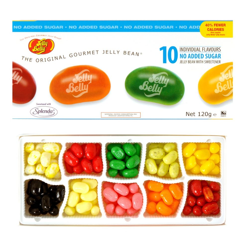 No Added Sugar Free Jelly Belly Beans Sweets 10 Flavour
